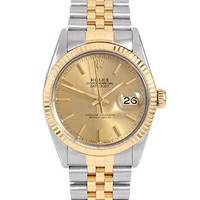 Rolex Datejust Swiss-Automatic Male Watch 16013 (Certified Pre-Owned)