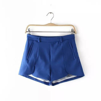 Summer Women's Fashion Simple Design Pants Casual Shorts [4918012804]