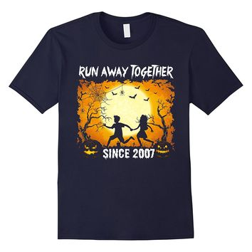 Funny Couple Shirt For Halloween. 10th Anniversary Gift.