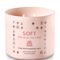 ROSE PETAL TEA CAKE3-Wick Candle