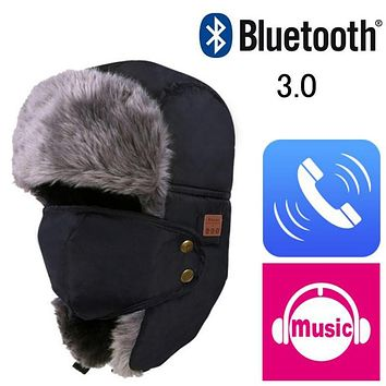 Autumn Winter Warm Beanie Hat Wireless Bluetooth Smart Cap Headset Headphone Speaker Mic Bluetooth Hat