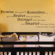 """Promise Me You'll Remember Winnie the Pooh Quote Wall Decal 12""""h X 35""""w"""