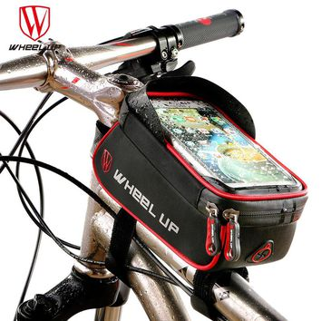 WHEEL UP Rainproof Front Zipper Bike Bag MTB Mountain Cycle Touch Screen Phone Bags Waterproof GPS Cycling Pouch Panniers 2017