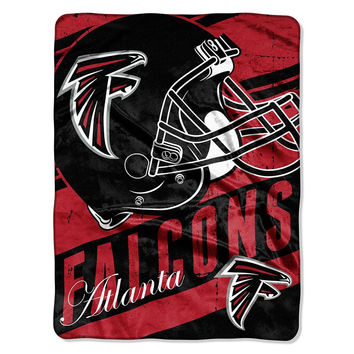 Atlanta Falcons NFL Micro Raschel Blanket (Deep Slant Series) (46in x 60in)