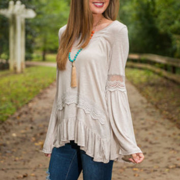 Oh So Tiered Tunic, Oatmeal