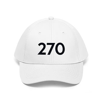 Kentucky 270 Area Code Embroidered Twill Hat BLACK