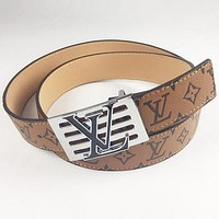 Boys & Men LV Woman Men Fashion Smooth Buckle Belt Leather Belt