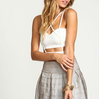 Criss Cross Strappy Bustier Top