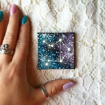 Tiny Hand Painted Libra Constellation Magnet