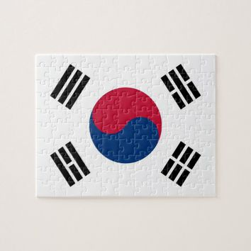 Puzzle with Flag of South Korea