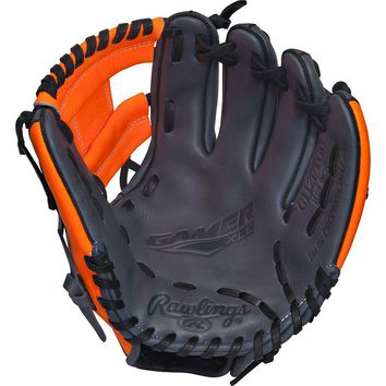 Rawlings 11.25-in. Gamer XLE Pro Taper Infield Right Hand Throw Baseball Glove - Youth (Black/Neon Orange)