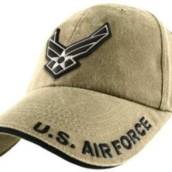 U.S. Air Force embroidered Khaki Low Profile Hat