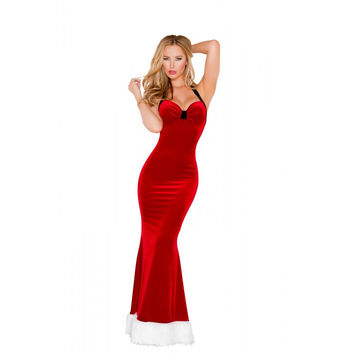 Miss Santa's Sassy Holiday Gown-Sexy Holidays Costumes
