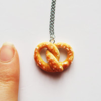 Salted Pretzel necklace