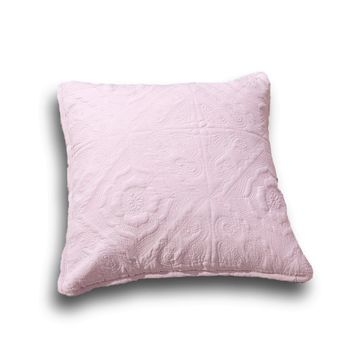 "DaDa Bedding Set of Two Elegant Floral Country Rose Pink Throw Pillow Covers, 18"" x 18"",  2-PCS (JHW860)"