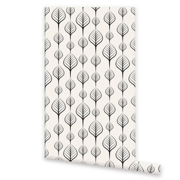 Self Adhesive WALLPAPER, Removable Vinyl Floral Wallpaper, Wall Decal, Peel & Stick, Repositionable Wallpaper Geometric Pattern