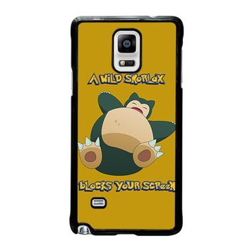 snorlax pokemon samsung galaxy note 4 case cover  number 3