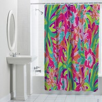 Sell Lilly Pulitzer Floral Custom Shower Curtain Cheap