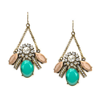 Chandelier Drop Earring - Green