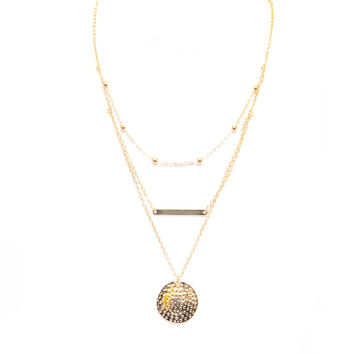 Three's A Crowd Layered Necklace In Gold