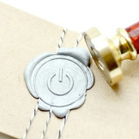 Power On Nerd B20 Gold Plated Wax Seal Stamp x 1