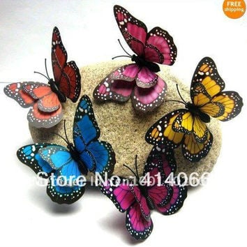 48Pcs 3D wall stickers butterfly fridge magnet wedding decoration home decor Room Decorations