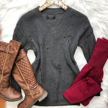 End Game Sweater - Gray