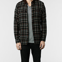 Mens Vannes Shirt (BLACK BASE CHK) | ALLSAINTS.com