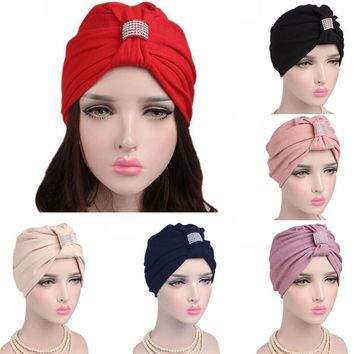 New Arrival Fashion Women Cancer Chemo Hat Beanie Scarf Turban Head Wrap Cap Headwear Best Selling 2017