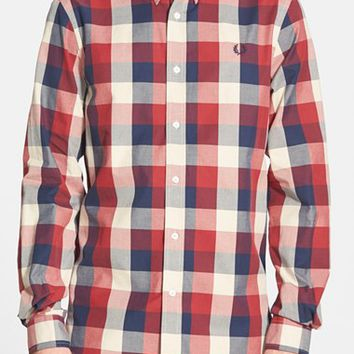 Men's Fred Perry 'Winter Gingham' Trim Fit Sport Shirt,