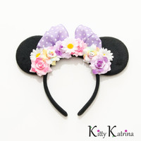 Daisy Duck Mouse Ears Inspired Headband, Daisy Duck Birthday, Daisy Duck Dress, Disney Headband, Disney Costume, Disney Ears, Disney Bound