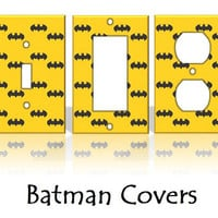 Batman Light Switch Covers Wallplates by KeepCalmandTurnItOn
