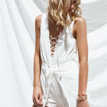 Raw Haven Playsuit - Playsuits by Sabo Skirt