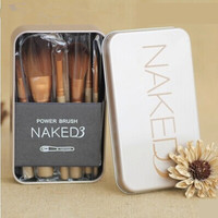 """Naked"" 12Pcs Fiber Hair Makeup Brush  Women's Portable Cosmetic Brush Set"