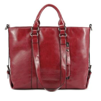 Casual Tote Leather Top-Handle Handbags