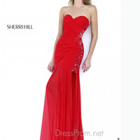 Strapless Sweetheart Formal Prom Gown By Sherri Hill 5200