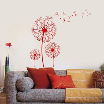 Wall Vinyl Decal Dandelion Romantic Love Bedroom Decor Unique Gift z3894