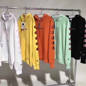 ''Champion'' Long Sleeve Hoodies Sweater