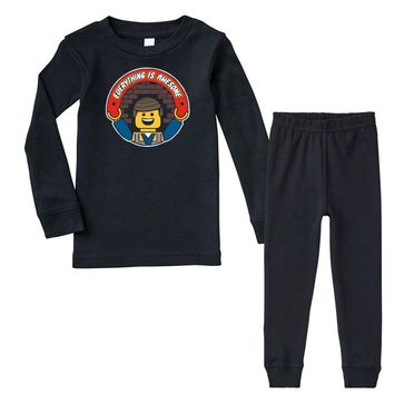 everything is awesome   mens funny lego Infant long sleeve pajama set