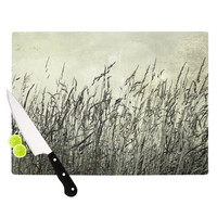 "Iris Lehnhardt ""Summer Grasses"" Neutral Gray Cutting Board"