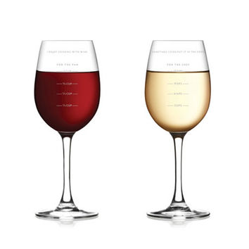 Measure for Measure Wineglasses - Set of 2