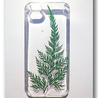 Handmade iPhone 5/5s case, Resin with Nature, Fern ( 9 )