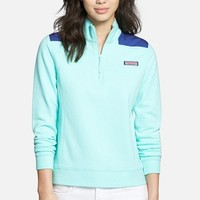 Women's Vineyard Vines 'Shep' Logo Quarter Zip Pullover,