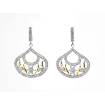 Fronay Collection Wedding Earrings Gala Event in Sterling Silver