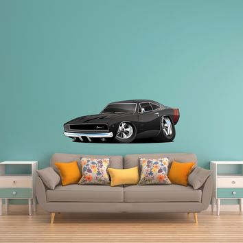Dodge Charger Muscle Car Cartoon 16 Wall Decal