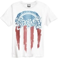 Aerosmith Men's  FLAF Slim Fit T-shirt White