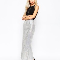 True Decadence Maxi Skirt in Hologram Sequins at asos.com