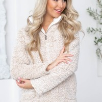 Jenn Soft Pocketed Fleece Jacket | Tan