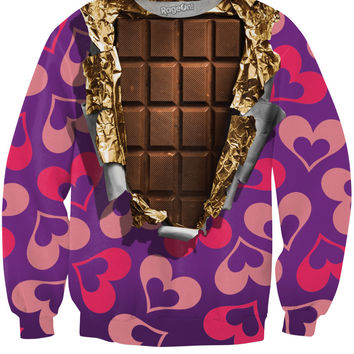 Chocolate Bar Crewneck Sweatshirt