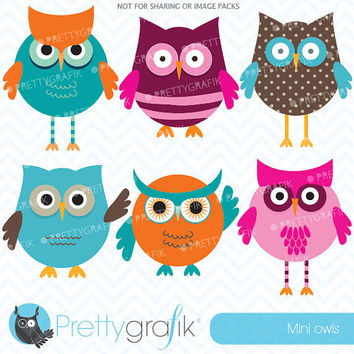 owl clipart for scrapbooking, commercial use, vector graphics, digital clip art, images - CL547